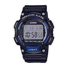 Casio Classic sort /blå resin urkasse med stål quartz multifunktion (3446) Herre ur, model W-736H-2AVEF